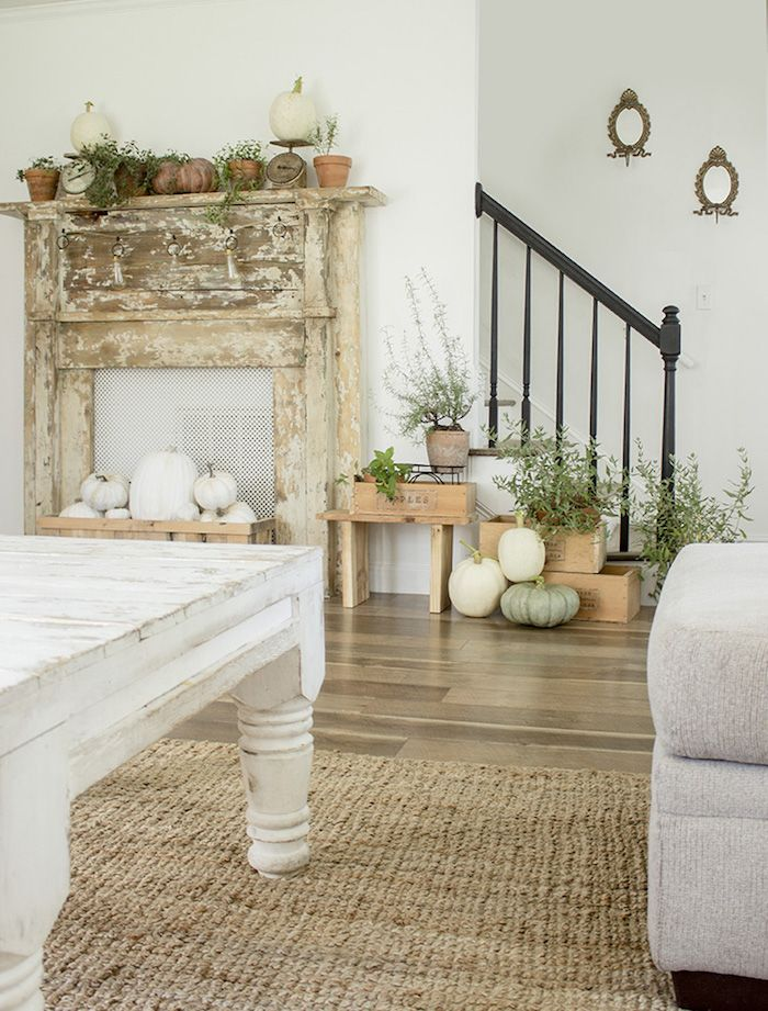 Fall Mantel Decor by Welivedhappilyeverafter