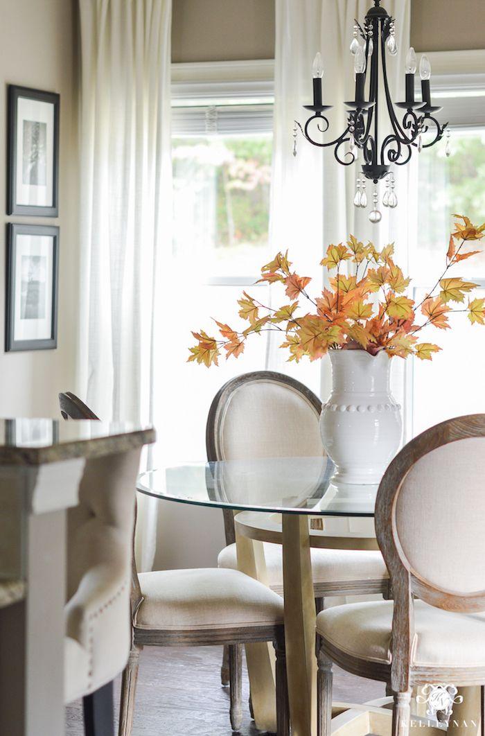 Fall Maple Leaves For Fall Dining Room Decor via Kelleynan