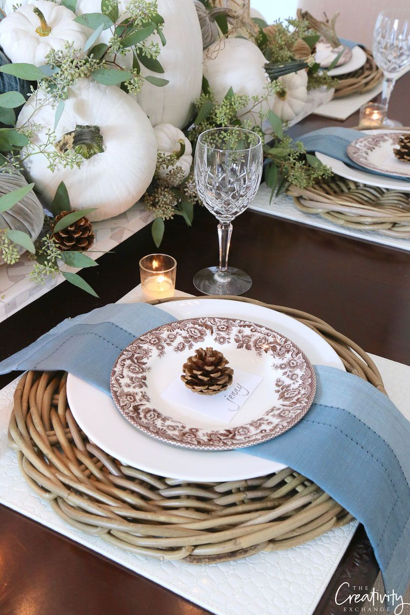 Fall Table Place Setting With Acorn by Thecreativityexchange