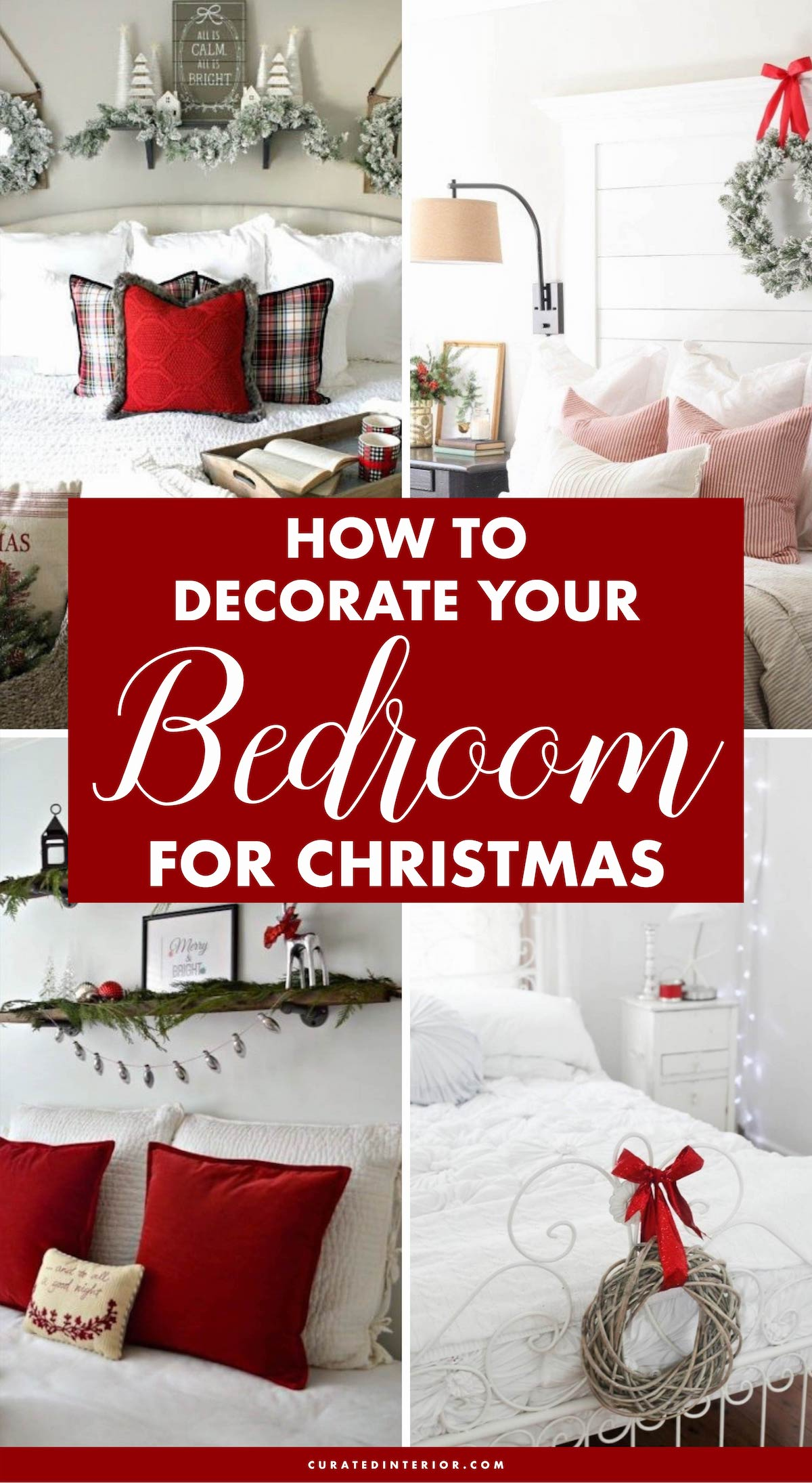 How to Decorate Your Bedroom for Christmas –25 ideas! #ChristmasDecor #BedroomDecor #ChristmasHome