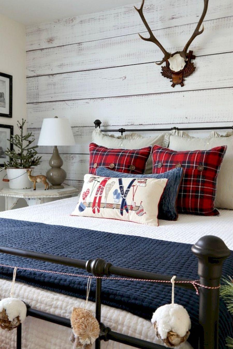 Modern Farmhouse Christmas Bedroom Decor