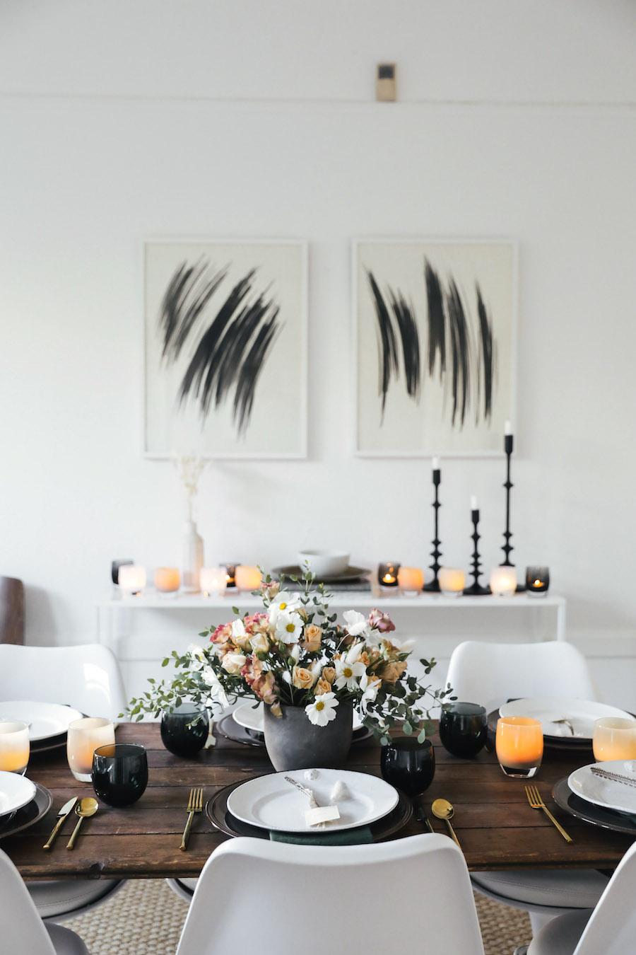 Modern Thanksgiving Tablescape via Sacramentostreet