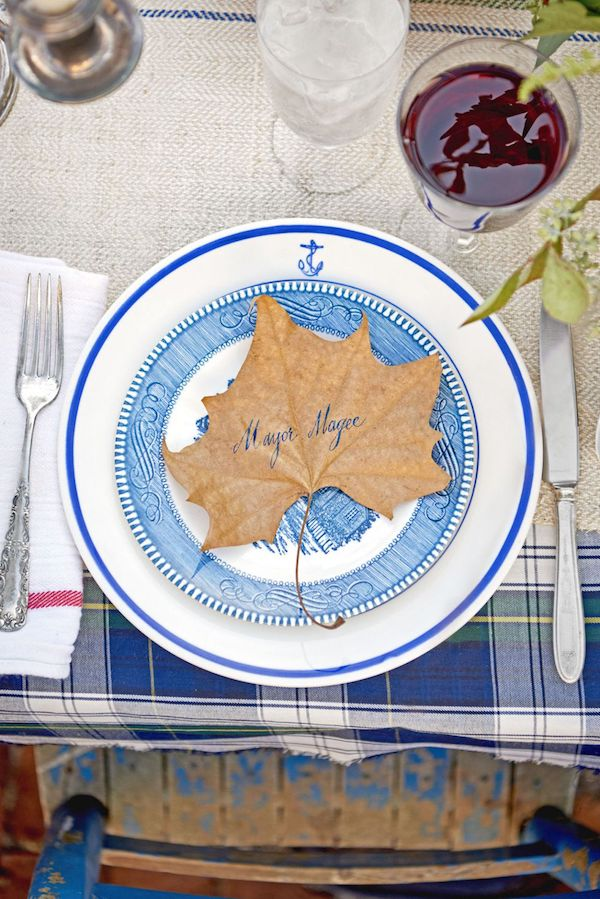 Nautical DIY Thanksgiving Place Card Via CountryLiving