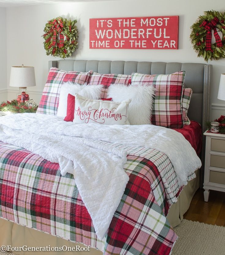 Top 40 Christmas Bedroom Decorations: 25 Christmas Bedroom Decor Ideas For A Cozy Holiday Bedroom