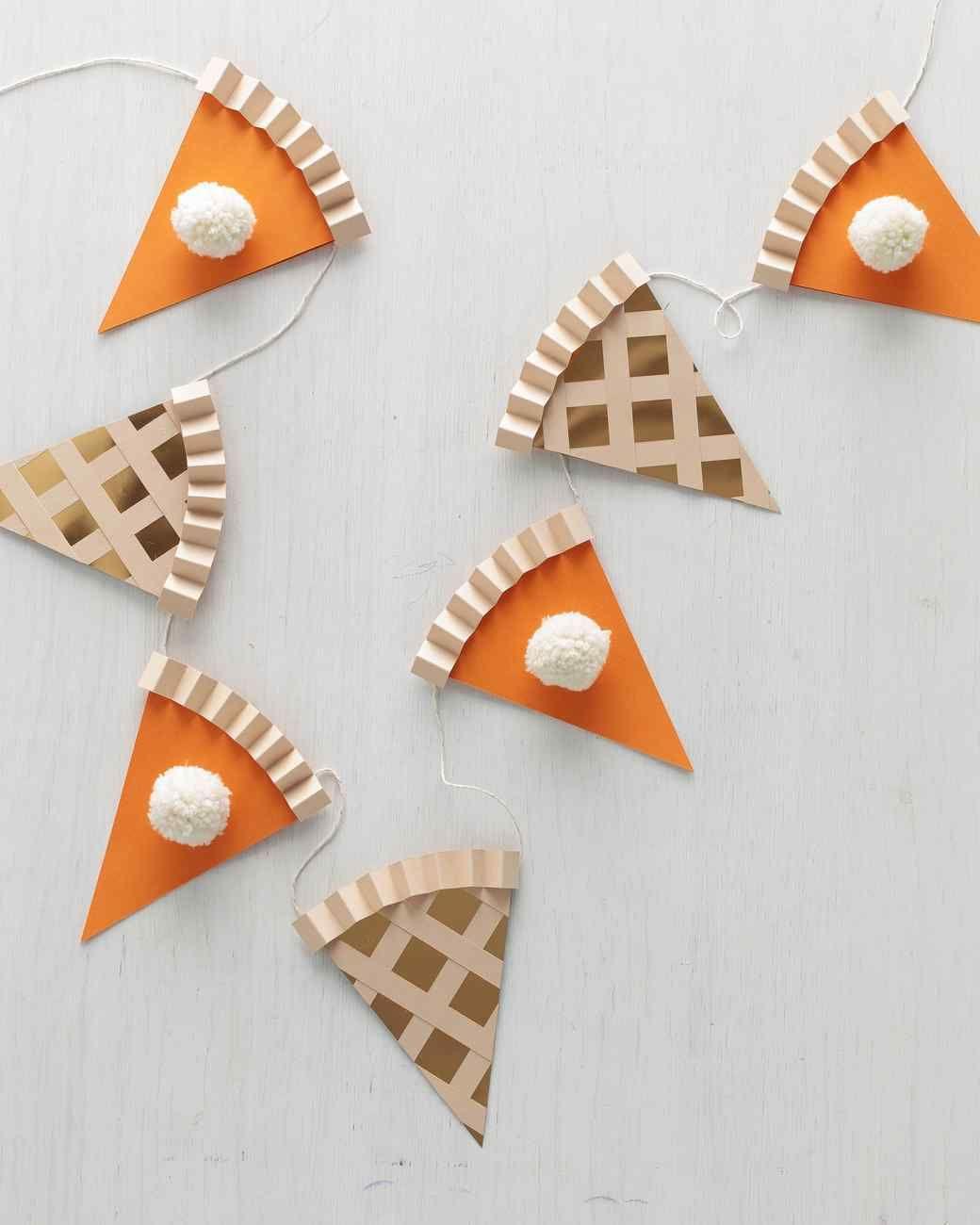 Pumpkin Pie Garland via MarthaStewart