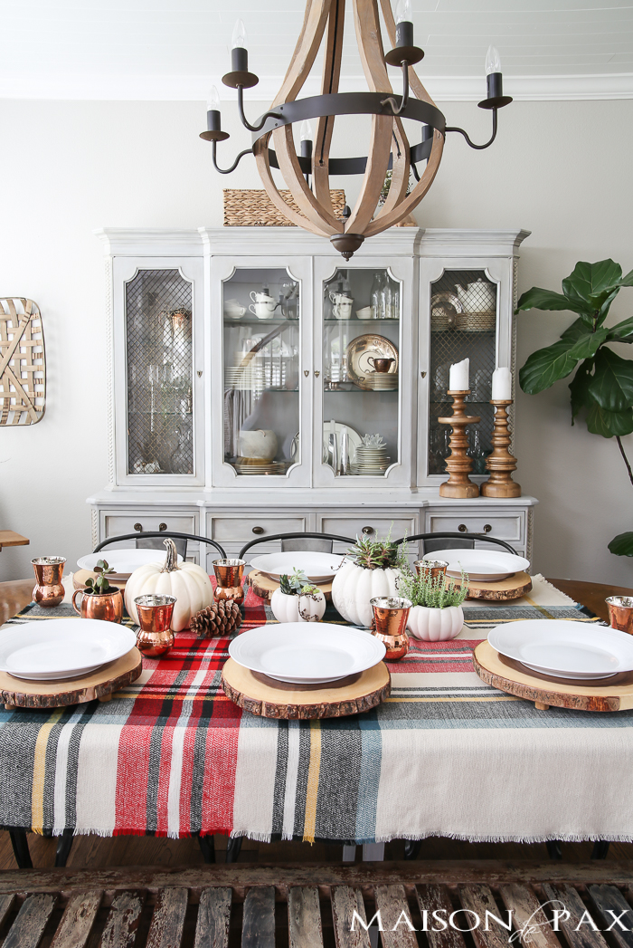 Rustic Thanksgiving Tablescape via MaisondePax