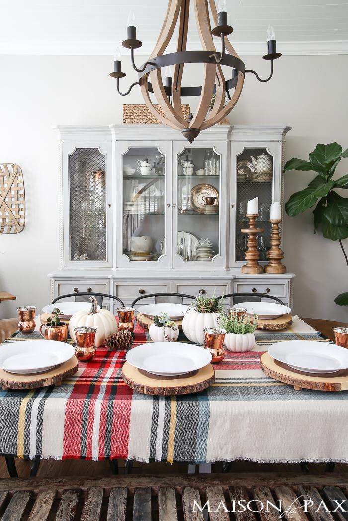 Rustic Thanksgiving Tablescape via MaisondePax