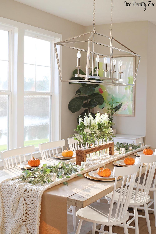 Simple Cozy Thanksgiving Tablescape via Twotwentyone