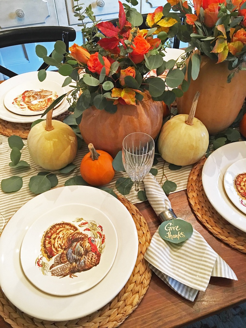 Thanksgiving Tablescape via thesouthernstyleguide