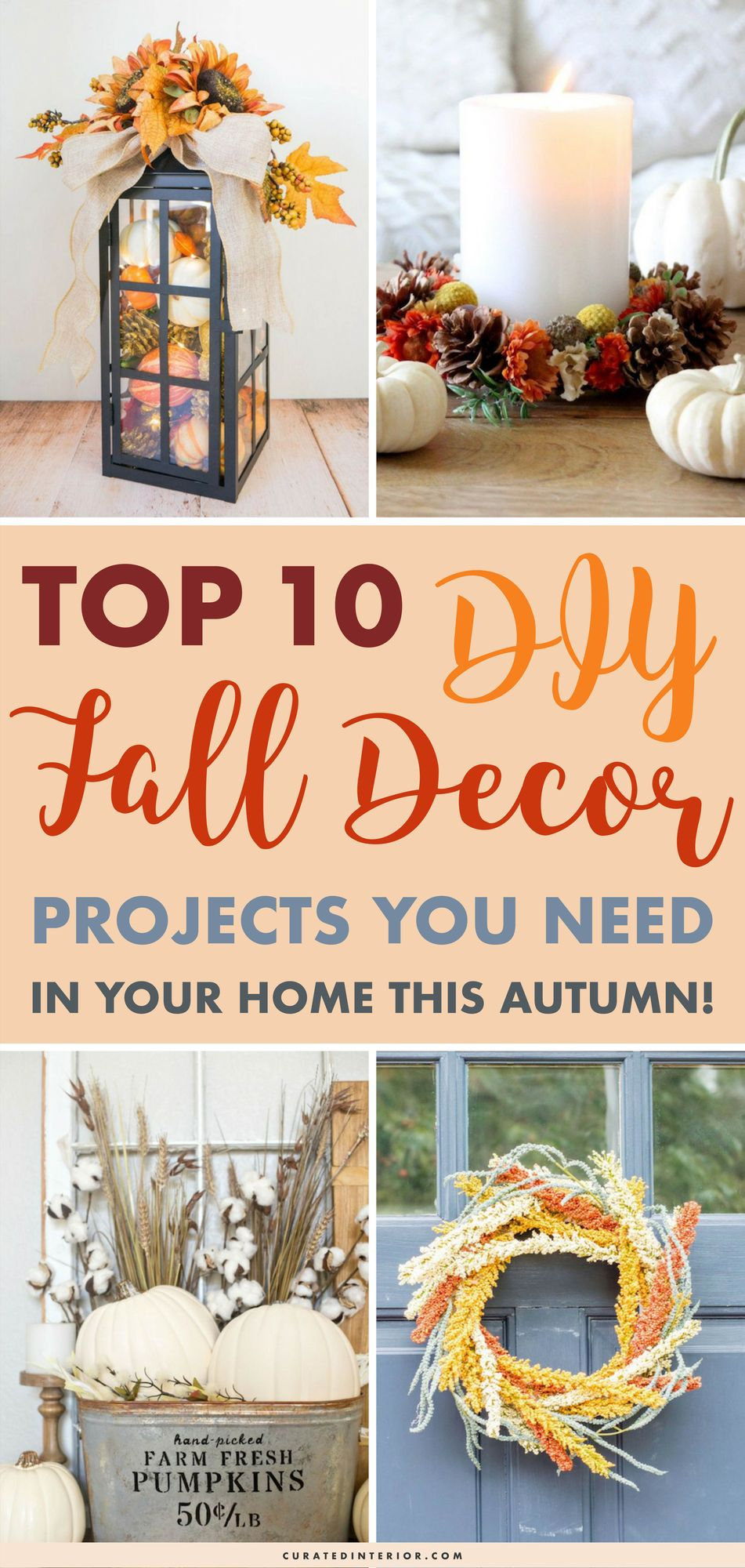 Top 10 DIY Fall Decor Projects for Your Home this Autumn #FallDecor #FallHomeDecor