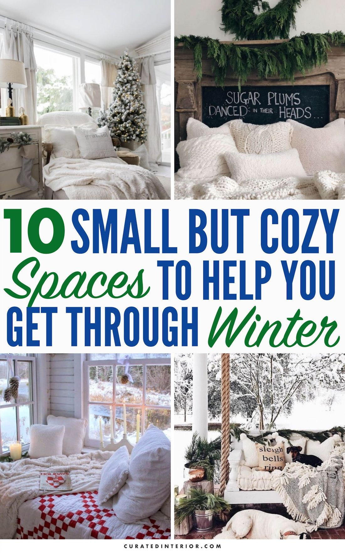 10 Small Cozy Spaces to Help You Get Through Winter #WinterDecor #WinterHome