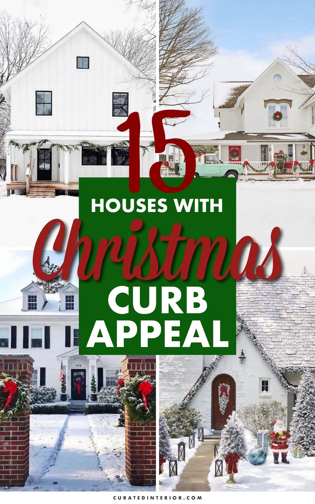 15 Houses with Christmas Curb Appeal #ChristmasDecor