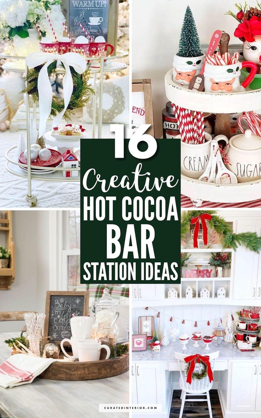 16 Creative Hot Cocoa Bar Station Ideas #HotCocoaBar