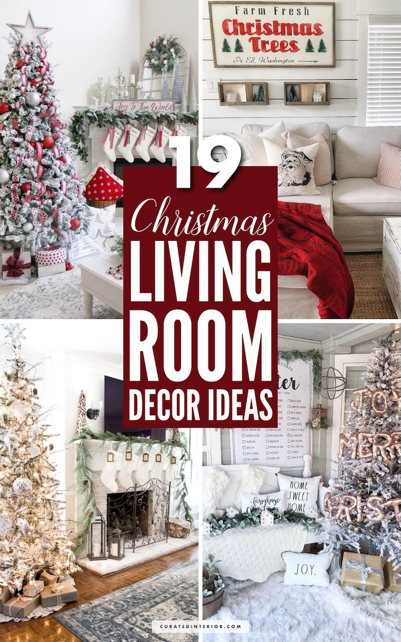 19 Festive Christmas Living Room Decor Ideas #Christmas #ChristmasDecor