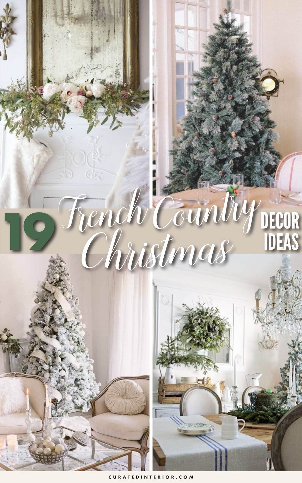 19 French Country Christmas Decor Ideas #FrenchCountry #FrenchChristmas #FrenchCountryDecor #ChristmasDecor