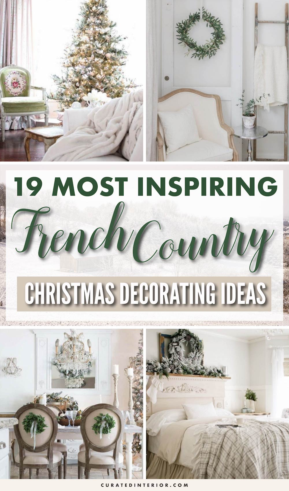 19 Most Inspiring French Country Christmas Decorating Ideas #FrenchCountry #FrenchChristmas #FrenchCountryDecor