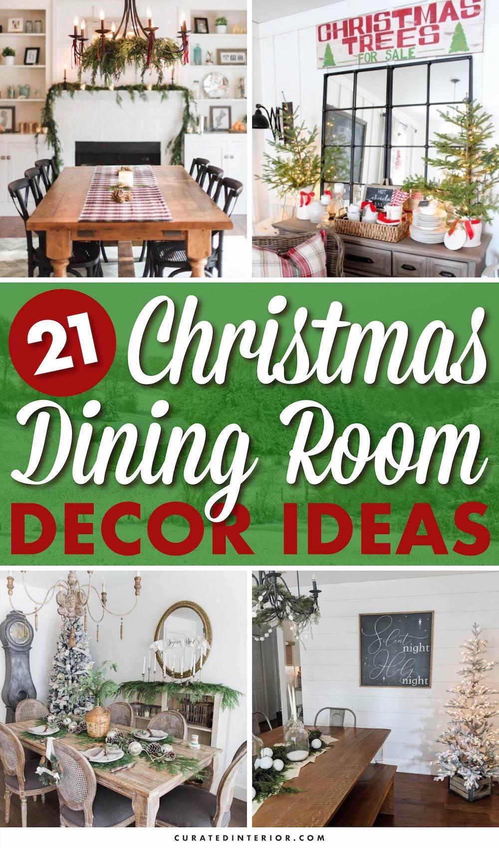 21 Christmas Dining Room Decor ideas #ChristmasDecor #ChristmasDiningRoom