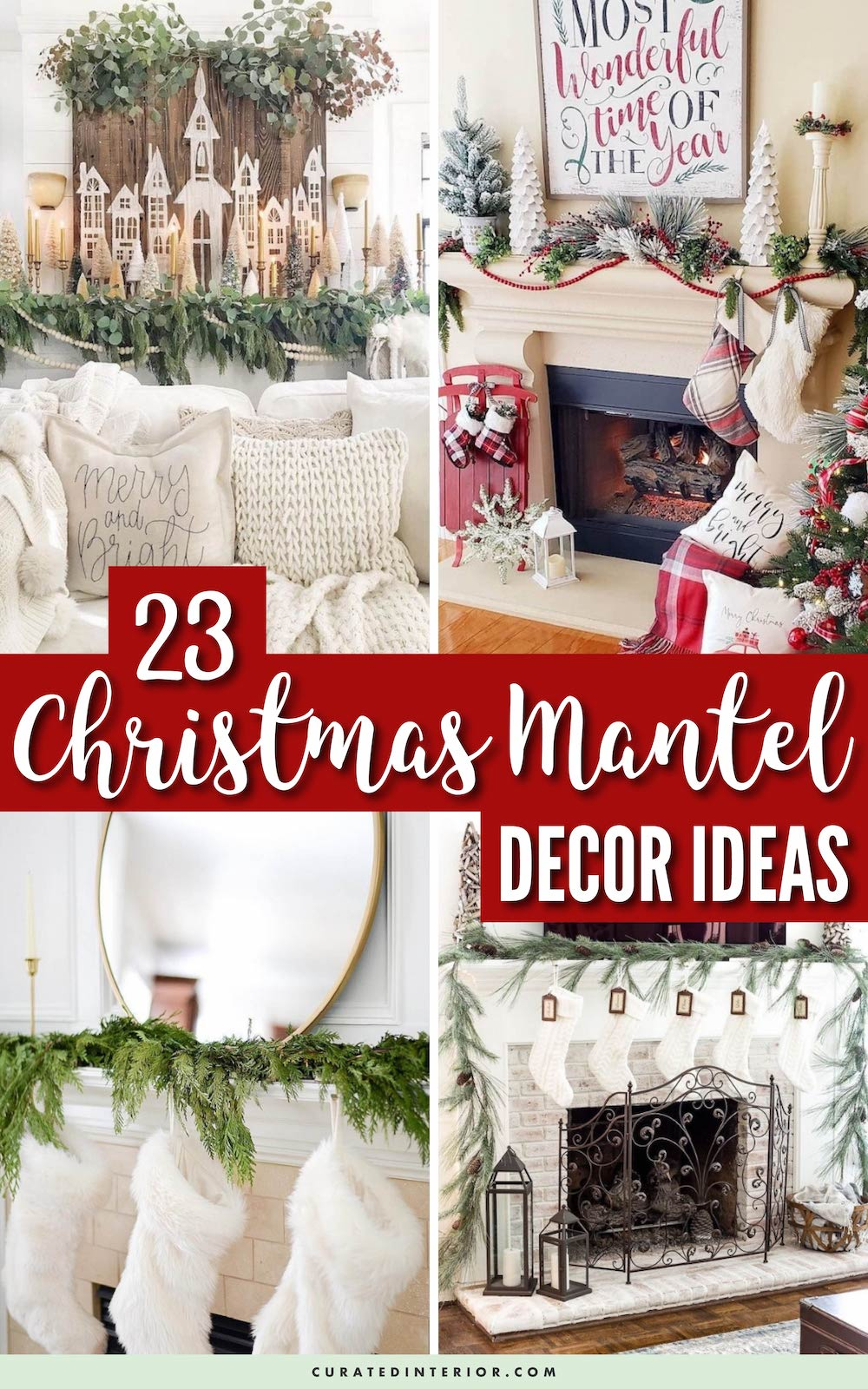 23 Fabulous Christmas Mantel Decor Ideas