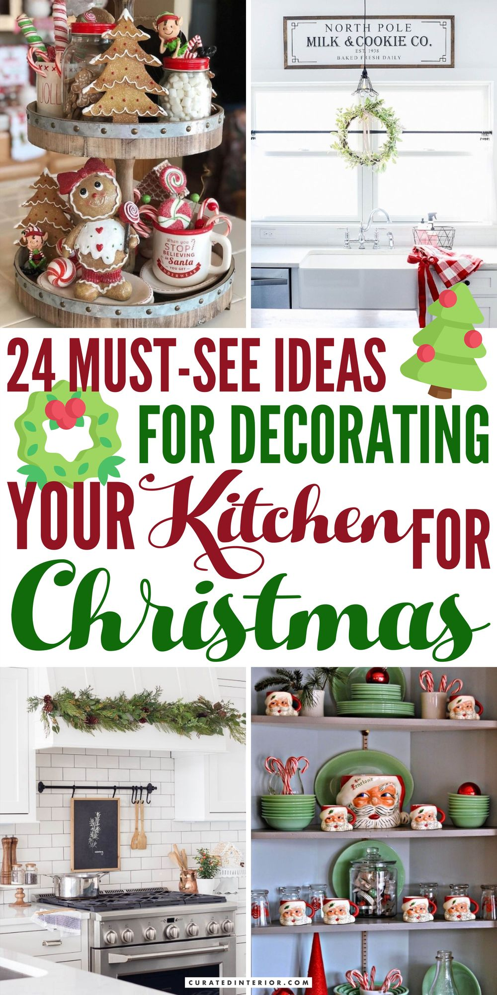 24 Must-See Ideas for Decorating Your Kitchen for Christmas
