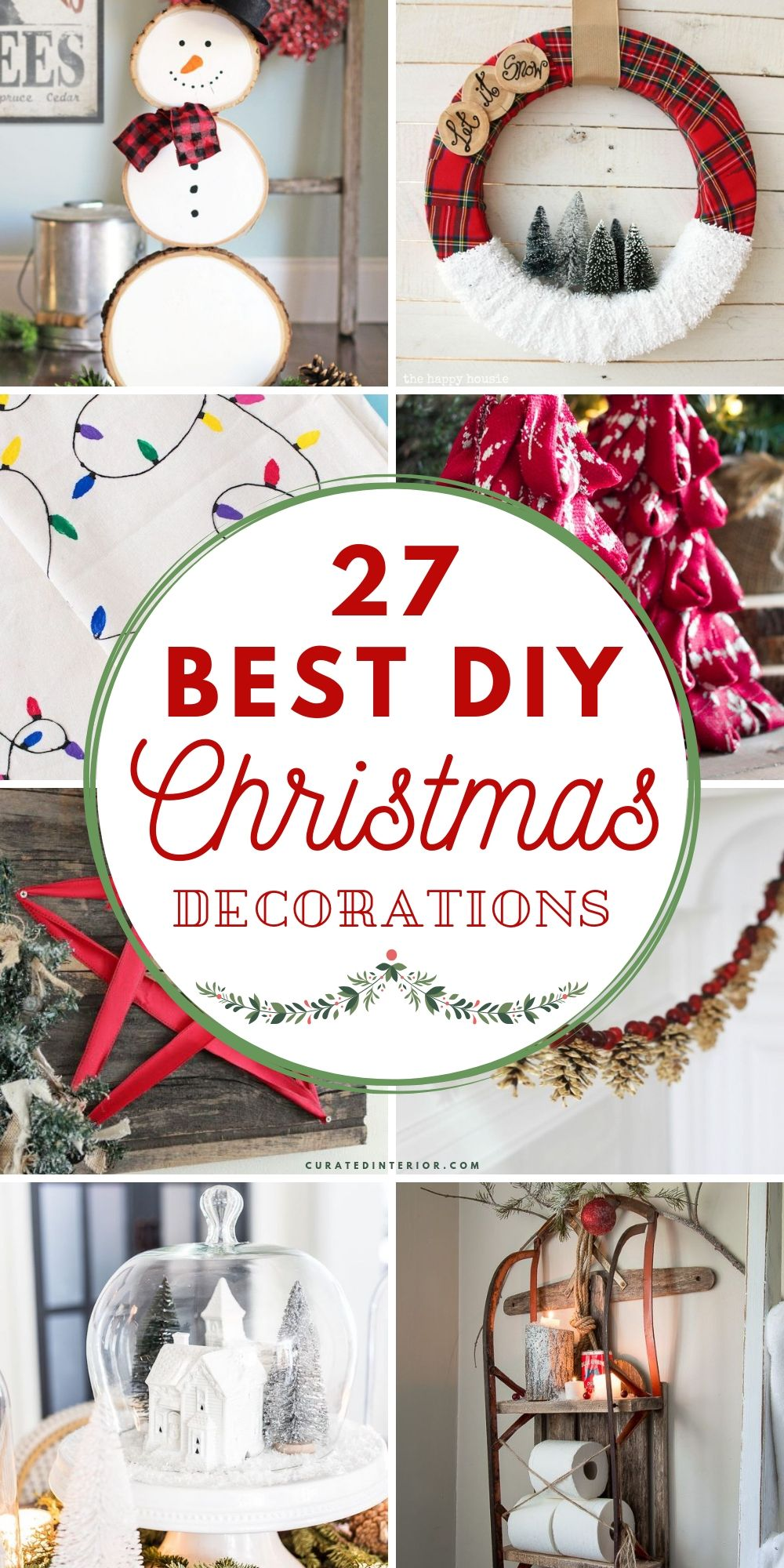 27 Best DIY Christmas Decorations! #Christmas #ChristmasDecor #ChristmasDIY #DIYDecor