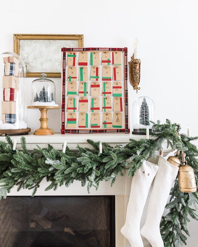 Advent Calendar Mantel via @somuchbetterwithage