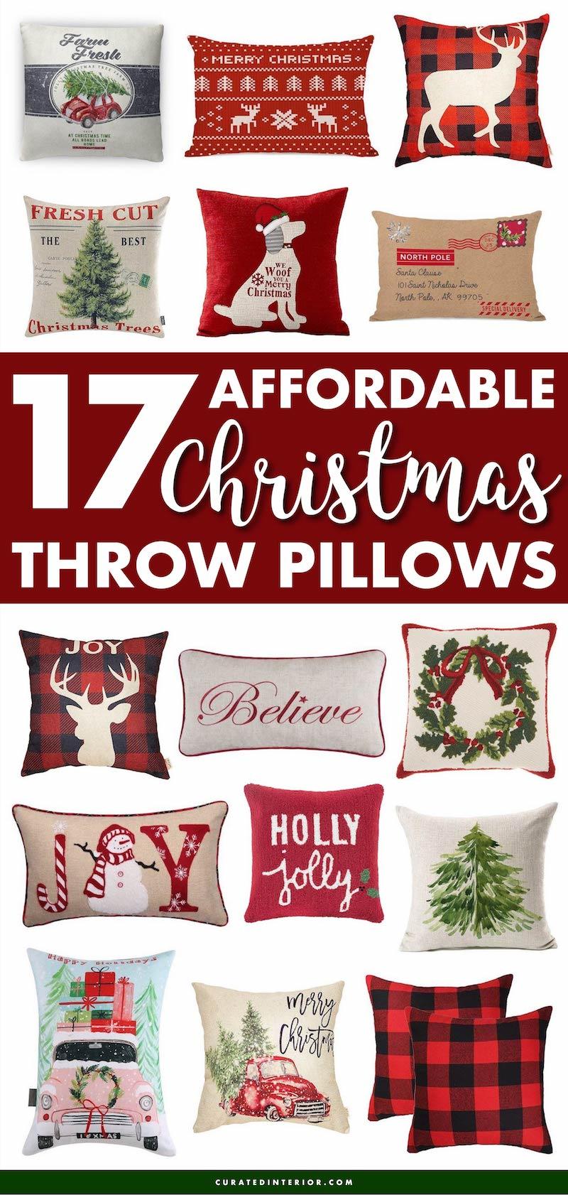 Affordable Christmas Throw Pillows #ChristmasDecor