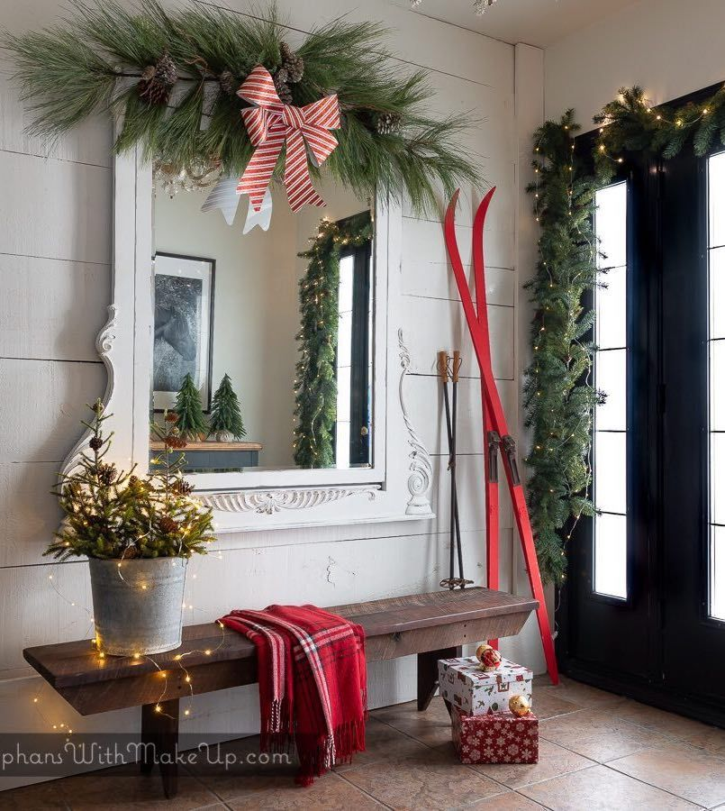 19 Amazing Christmas Entryway Ideas Farmhouse Style More