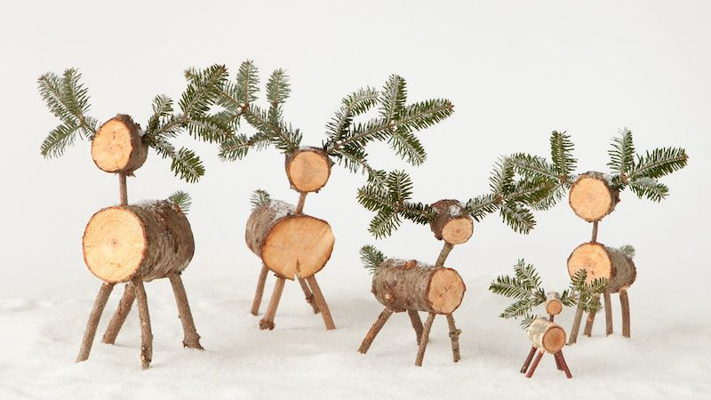 Christmas Tree Reindeer DIY via marthastewart #Christmas #ChristmasDecor #ChristmasDIY #DIYDecor