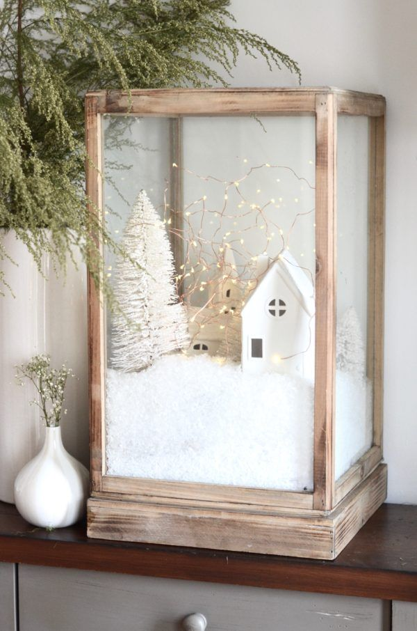 DIY Christmas Village via TheNester #Christmas #ChristmasDecor #ChristmasDIY #DIYDecor