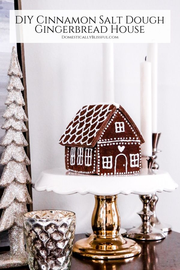 DIY Gingerbread House Decor via domesticallyblissful #Christmas #ChristmasDecor #ChristmasDIY #DIYDecor