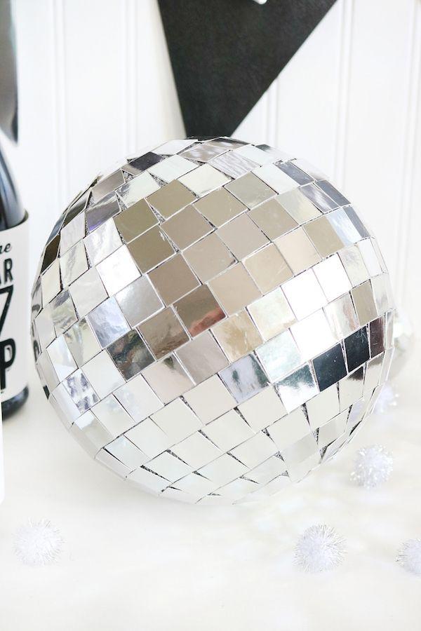 DIY Mirror Ball Decor via thecraftedsparrow