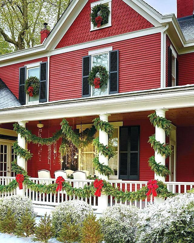 Decorating Christmas Houses via @frontgate