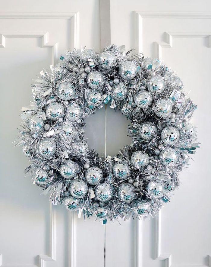 Disco Ball Wreath via abeautifulmess