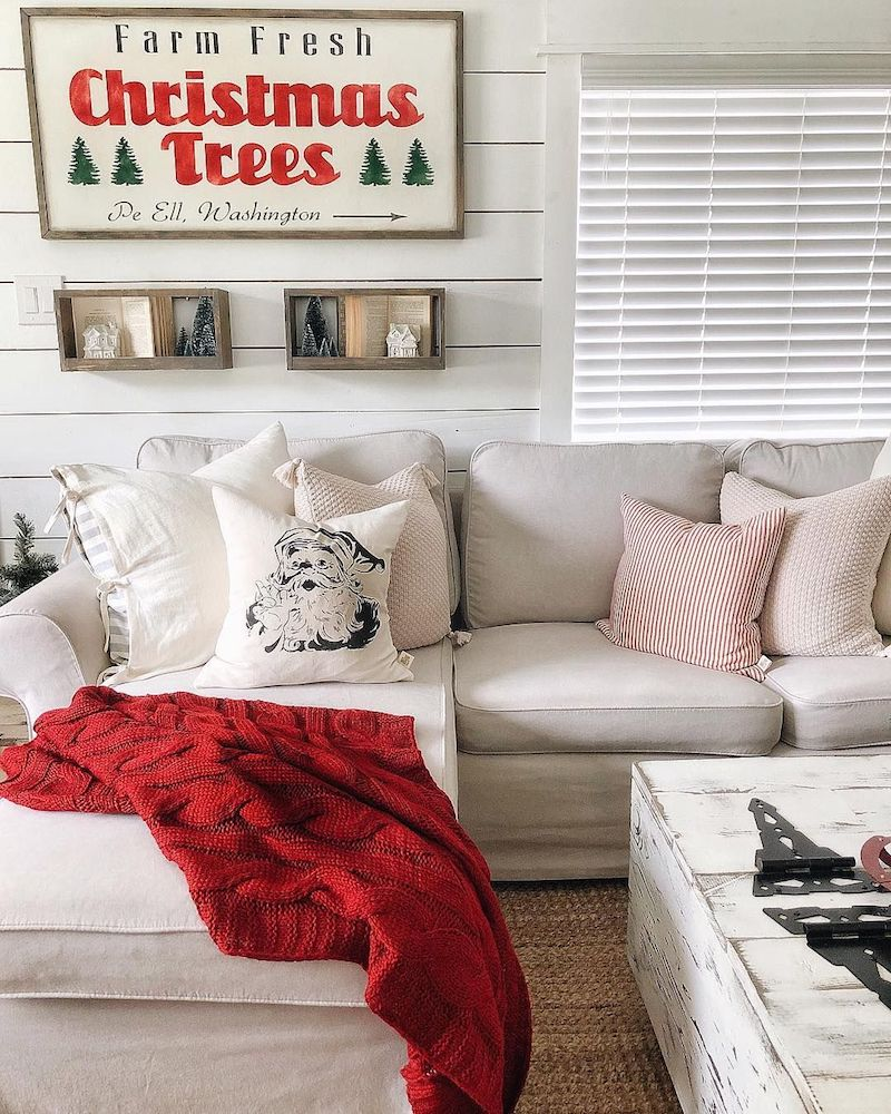Farm Fresh Christmas Trees Sign Living Room Decor via @farmsteadonfirst