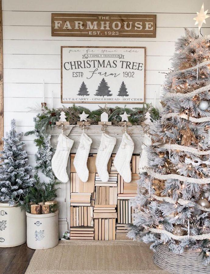 25 Inspiring Farmhouse Christmas Decor Ideas