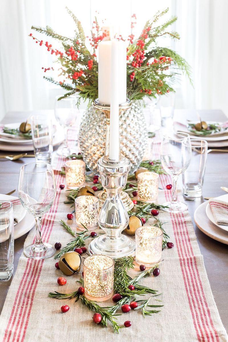 Farmhouse Christmas Tablescape via blesserhouse