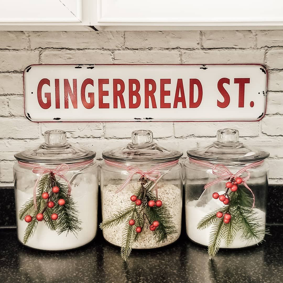 Gingerbread Street Metal Sign via @farmhouse165