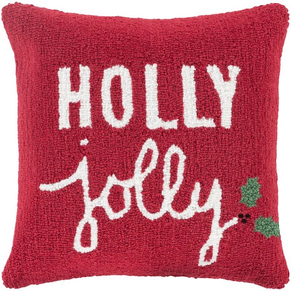 Holly Jolly Throw Pillow