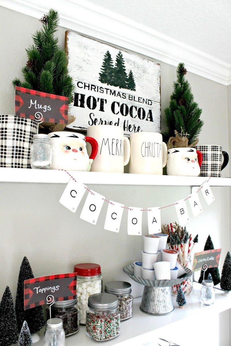 Hot Cocoa Bar via nestingblissfullyinteriors