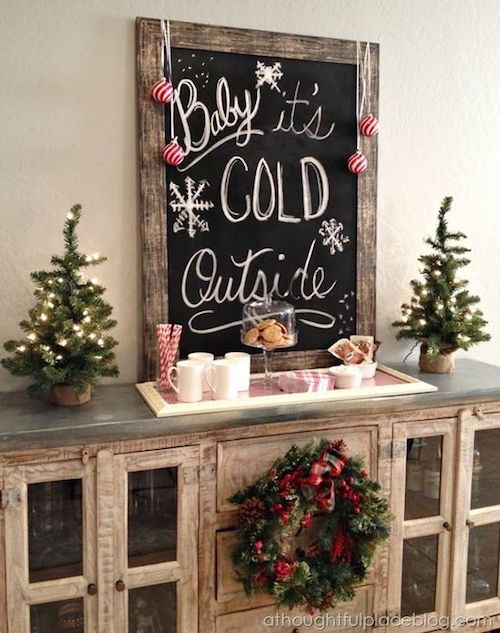 Hot Cocoa Station via athoughtfulplaceblog #HotCocoaBar