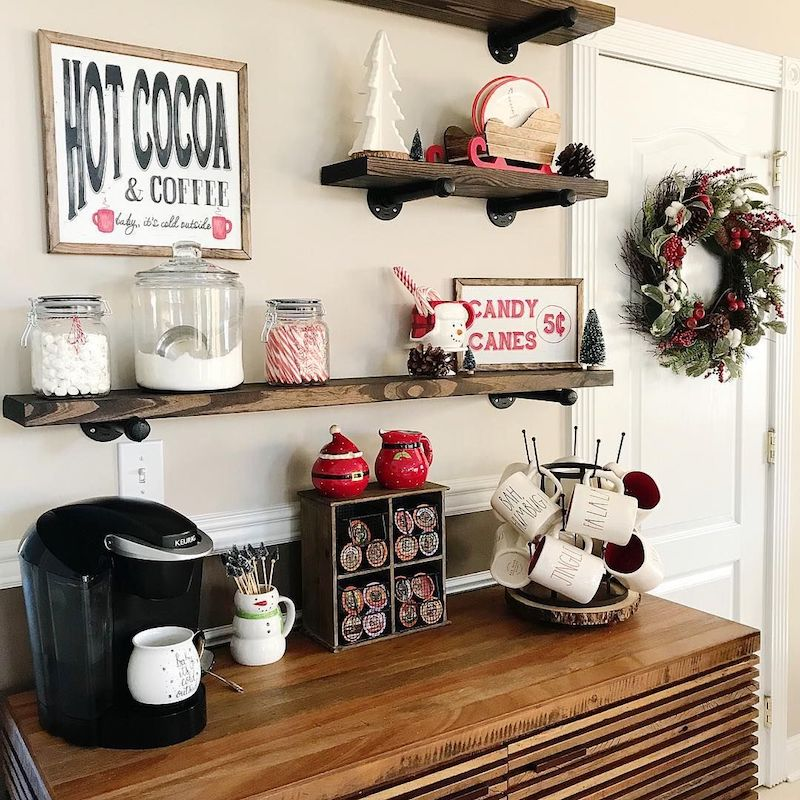 Home Coffee Bar Design Ideas: 16 Best Hot Cocoa Bar Station Ideas