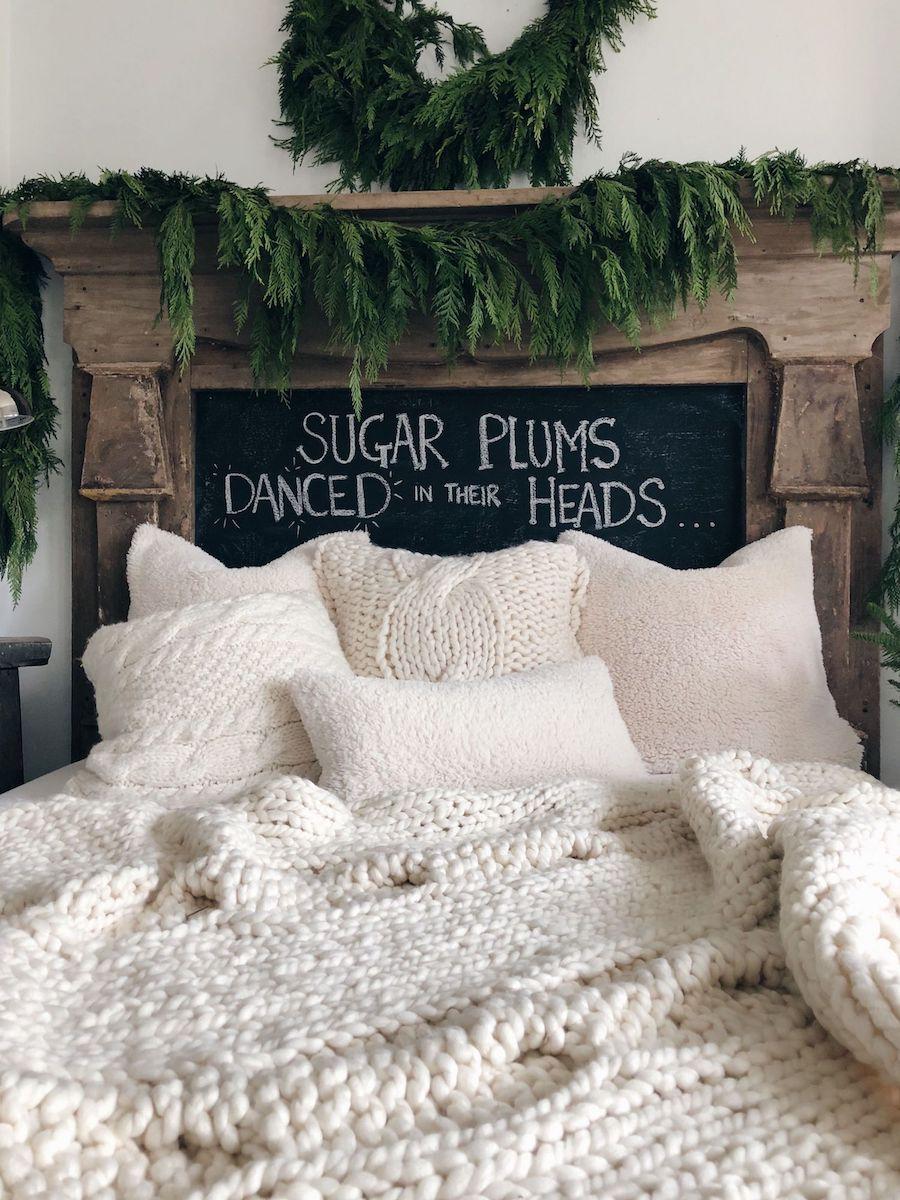 Knit blanket bedding Cozy Winter Nook