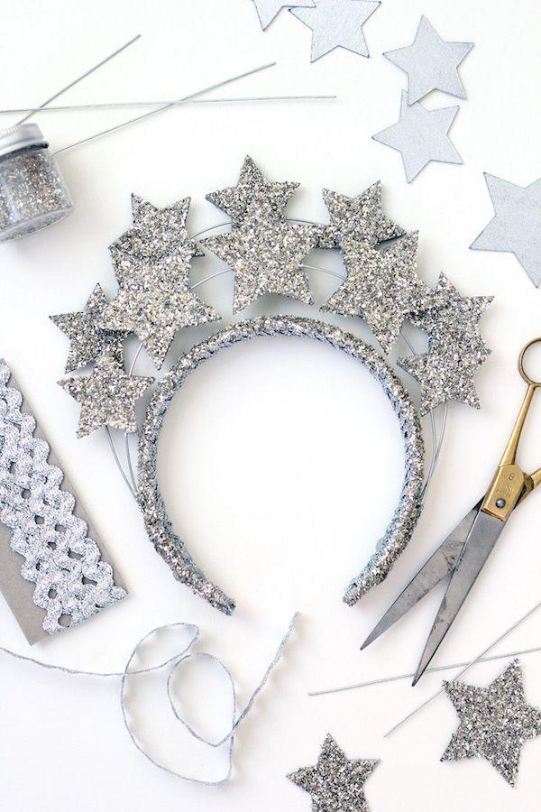 New Year's Silver Star Headband via thehousethatlarsbuilt