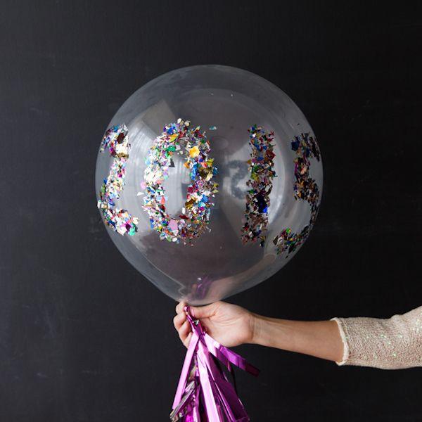 New Year Confetti Balloons via designimprovised