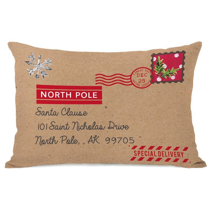 North Pole Special Delivery Lumbar Pillow