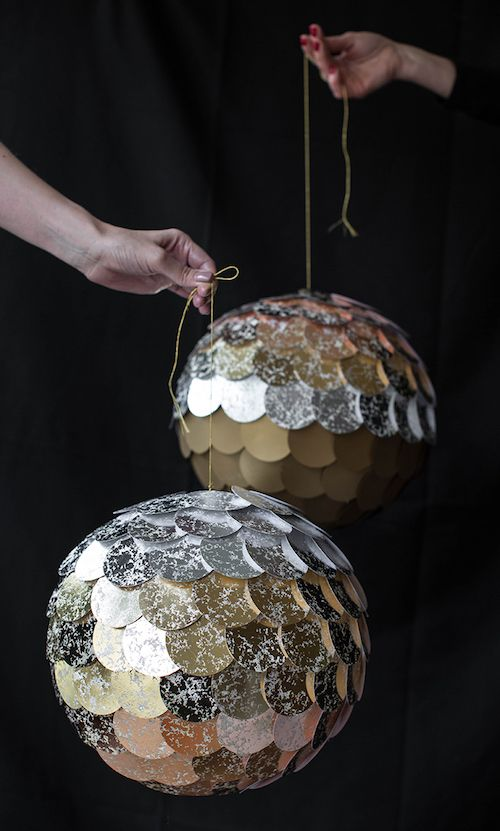 Ombre Disco Balls via liagriffith
