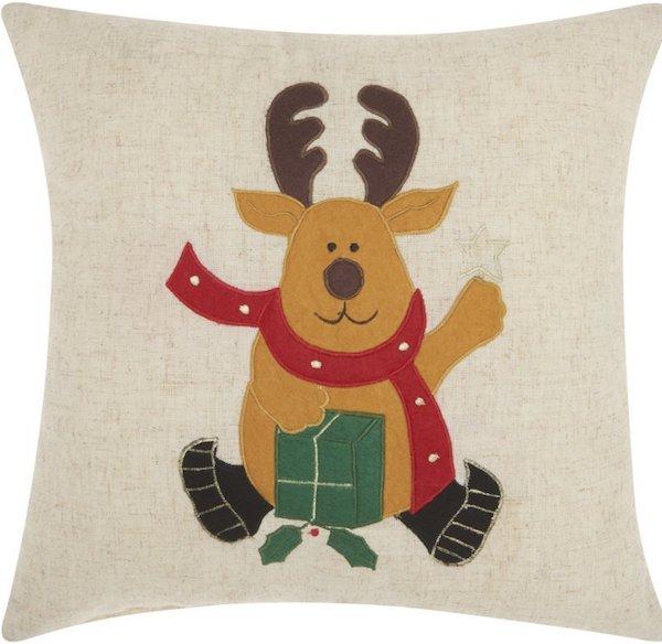 Reindeer Throw Pillow