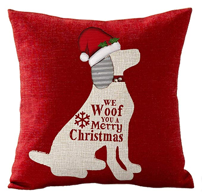 We Woof You A Merry Christmas Pillow