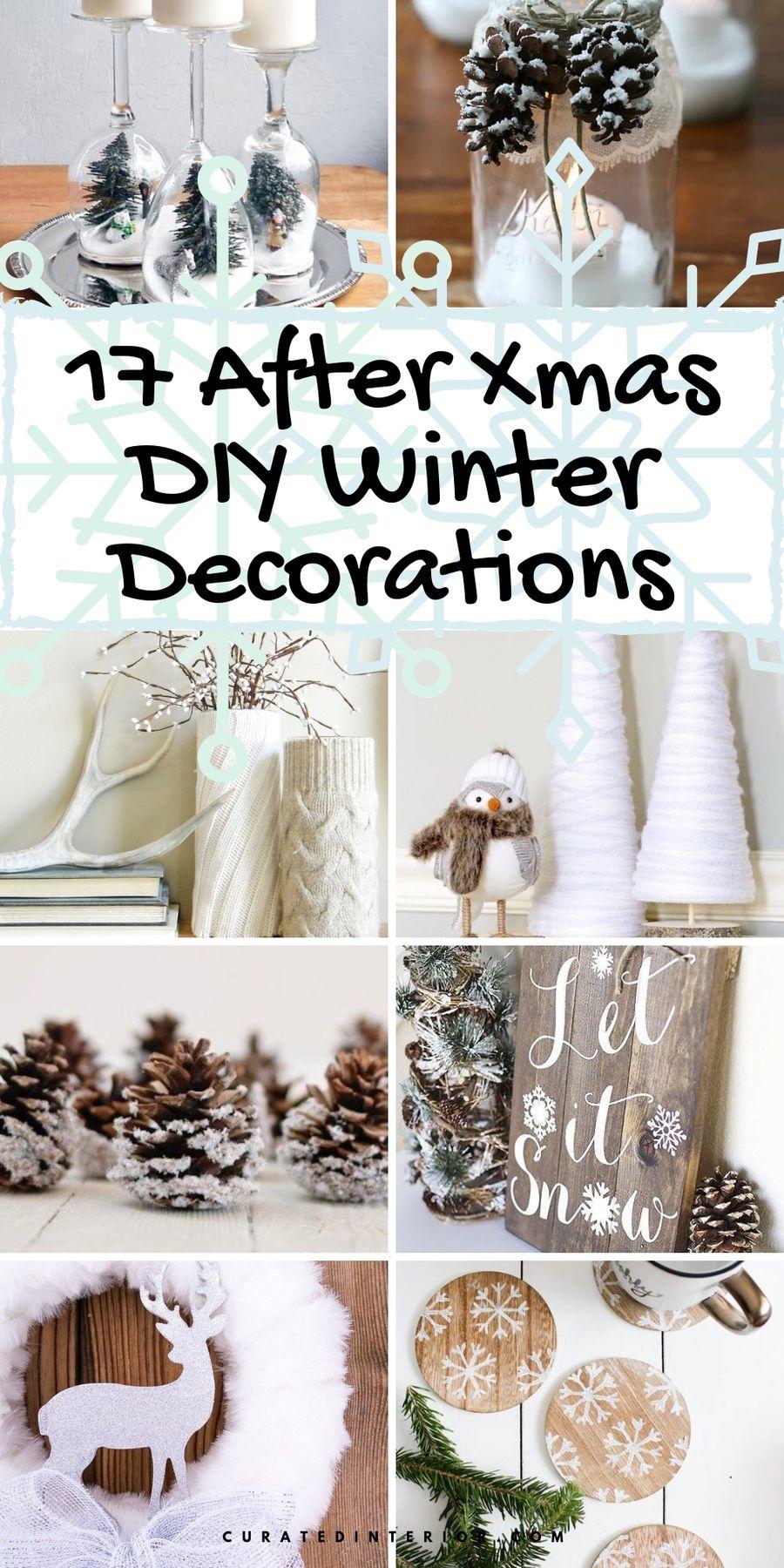 17 After Christmas DIY Winter Decorations #DIY #DIYDecor