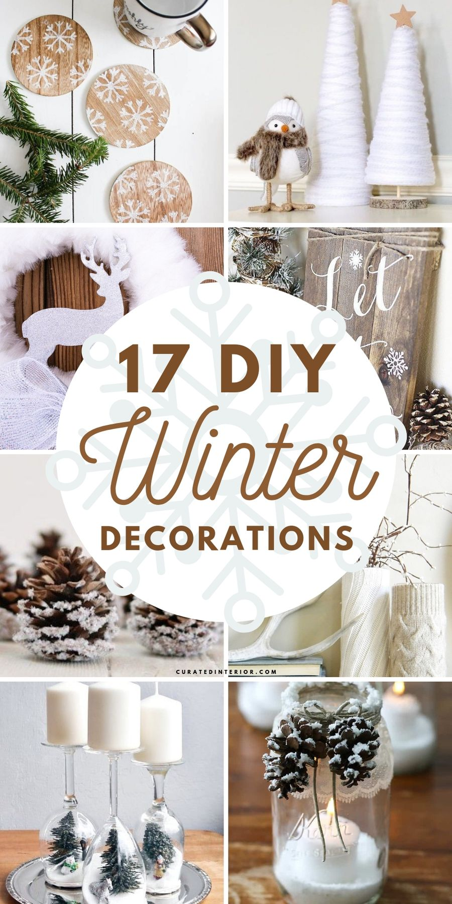 17 DIY Winter Decorations for the Home #DIY #DIYDecor